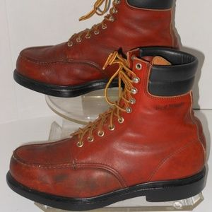RED WINGS LACE UP LEATHER LEATHER ANKLE BOOTS